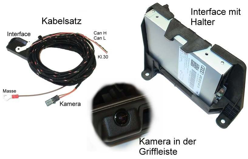 Genuine Audi OEM Retrofit Kit - Rear View Camera (High) - Audi A4 B8